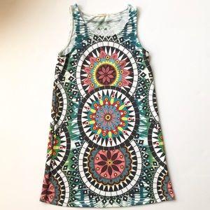 12PM by MON AMI Dress Boho Mandala Print Knit